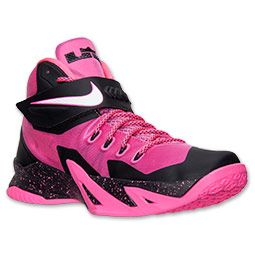 Men's Nike Zoom LeBron Soldier 8 Basketball Shoes | Finish Line | Pink Fire/White/Black/Hyper Pink