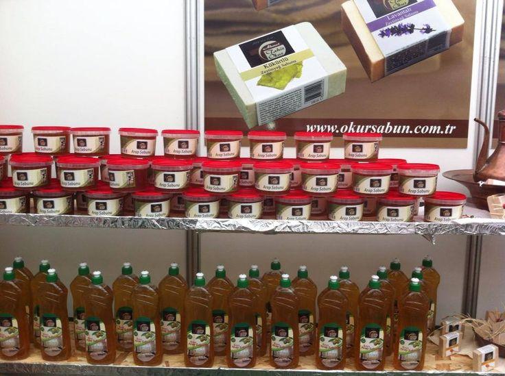 Arab soap.  Used in household cleaning.  www.okursabun.com.tr