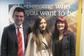 Abbey College Manchester student Emma Foster from Hayfield recently had a once-in-a-lifetime chance to shadow former Health Secretary and Culture, Media and Sport Secretary Andy Burnham at his office in Westminster for a day.