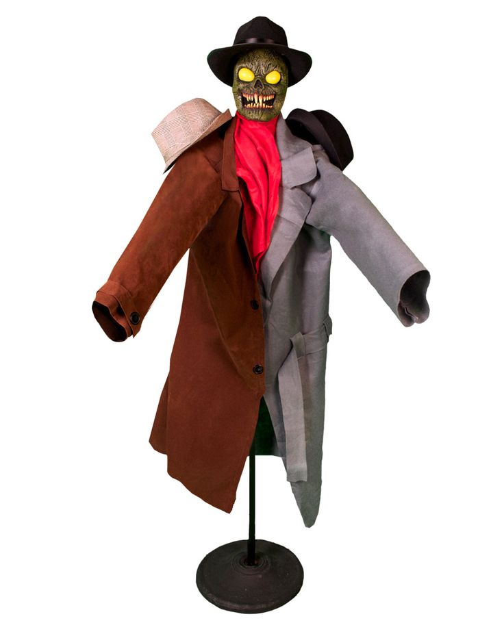 Could be a fun scare for a haunted hotel party.  The coat rack turns into a monster.  Coat Rack Monster Animated Decoration – Spirit Halloween