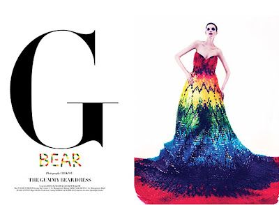 220 Pound Dress Made of 50,000 Gummy Bears Is A Tribute To Alexander McQueen.