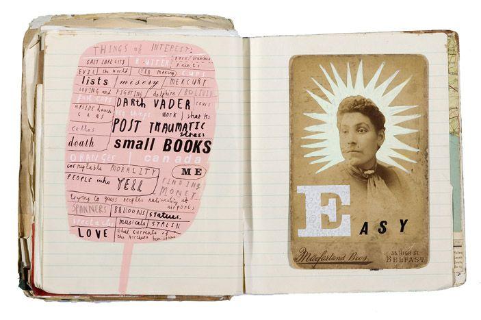 Sketchbook pages of Oliver Jeffers