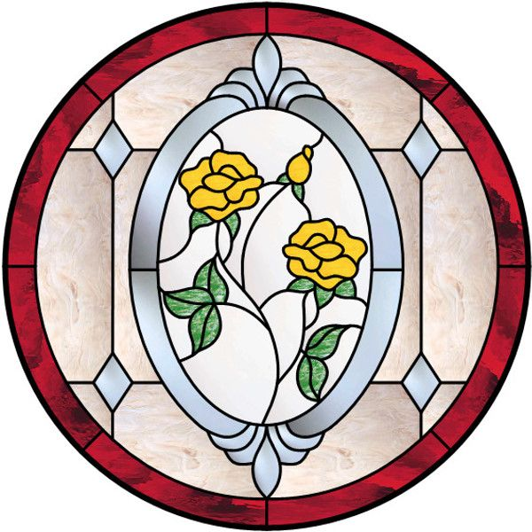 17 best images about stained glass flowers plants for Window design circle