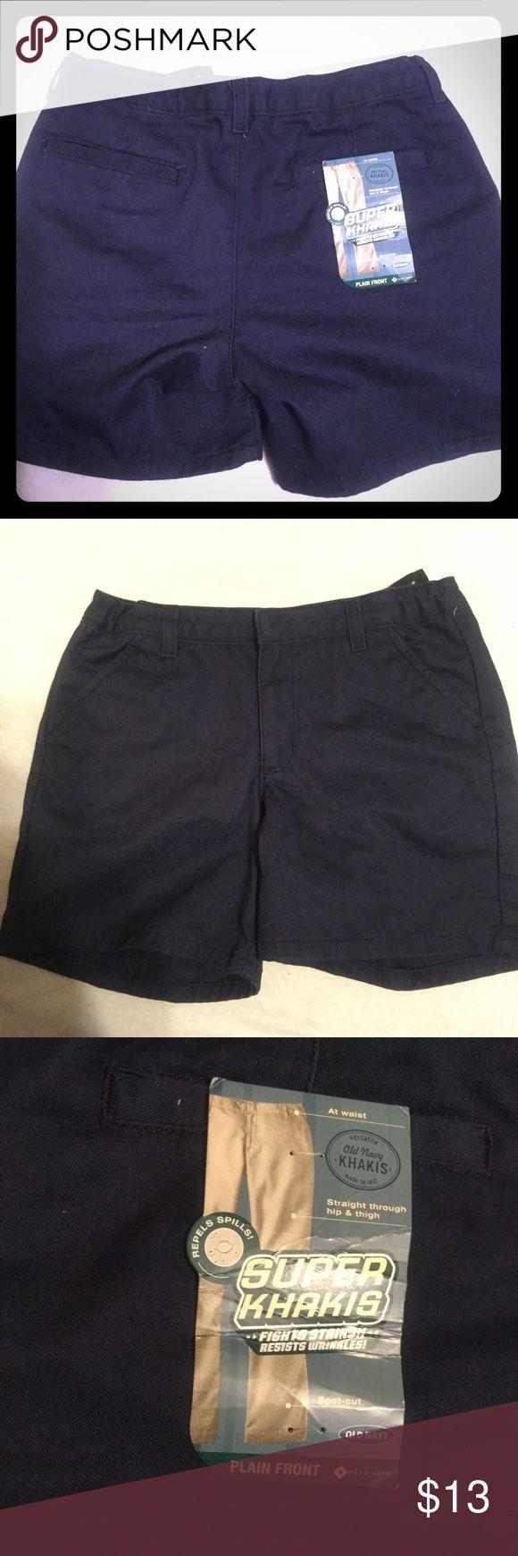Selling this Old Navy Super Khakis School Uniform Shorts Blue on Poshmark! My username is: pennypicking. #shopmycloset #poshmark #fashion #shopping #style #forsale #Old Navy #Other