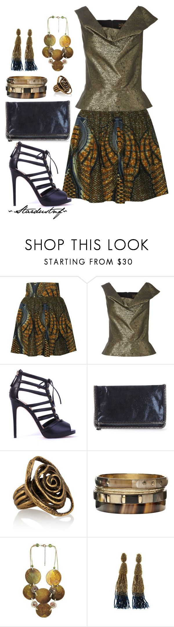 """""""Tribal Print Skirt"""" by stardustnf ❤ liked on Polyvore featuring FAIR+true, Vivienne Westwood Anglomania, STELLA McCARTNEY, Oscar de la Renta and Witchery"""