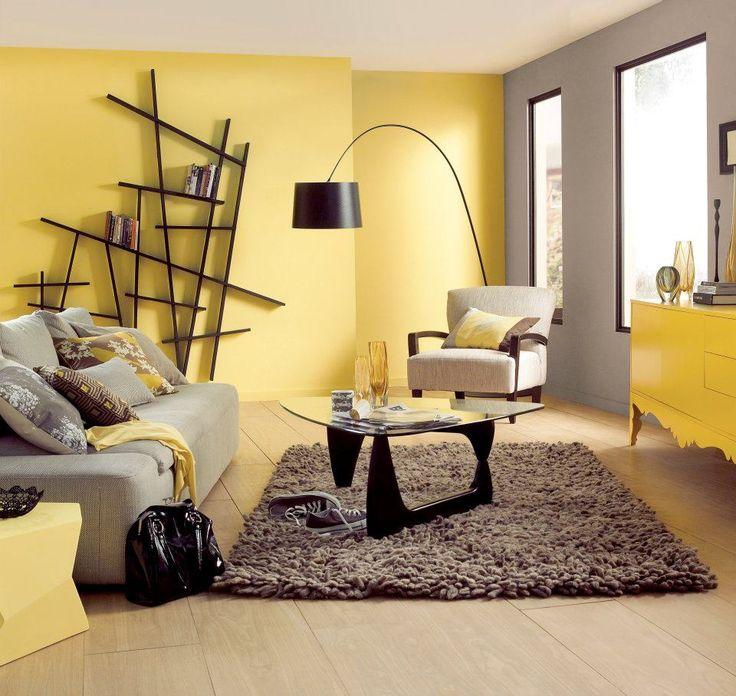 salon amarillo y gris - pintatucasa.es