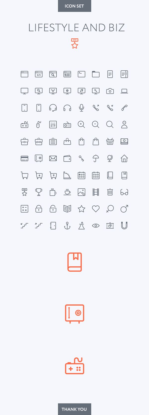 Lifestyle and Business icon set on Behance