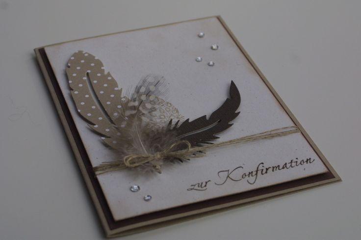 Glückwunschkarte zur Konfirmation / Kommunion von Das Werk der Feen auf DaWanda.com