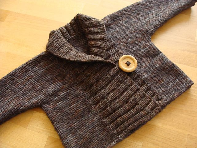 Ribbed Baby Jacket (Debbie Bliss)