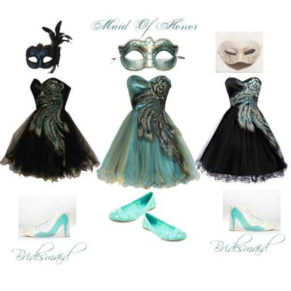 """Halloween Wedding, Masquerade Wedding Party"" by surrealstarr on Polyvore"