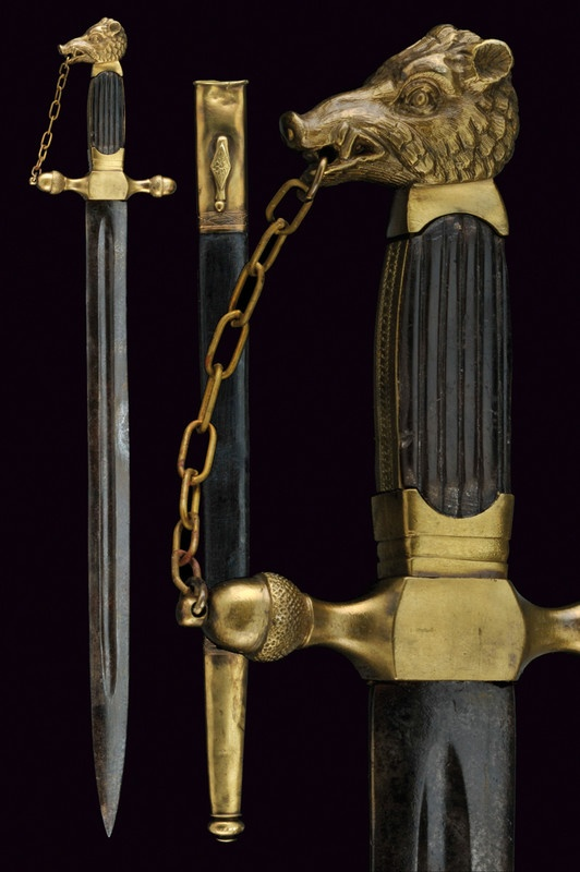 A composite hunting hanger                                                     category:     Hunting Swords & Daggers                     provenance:     Europe                    dating:       19th Century