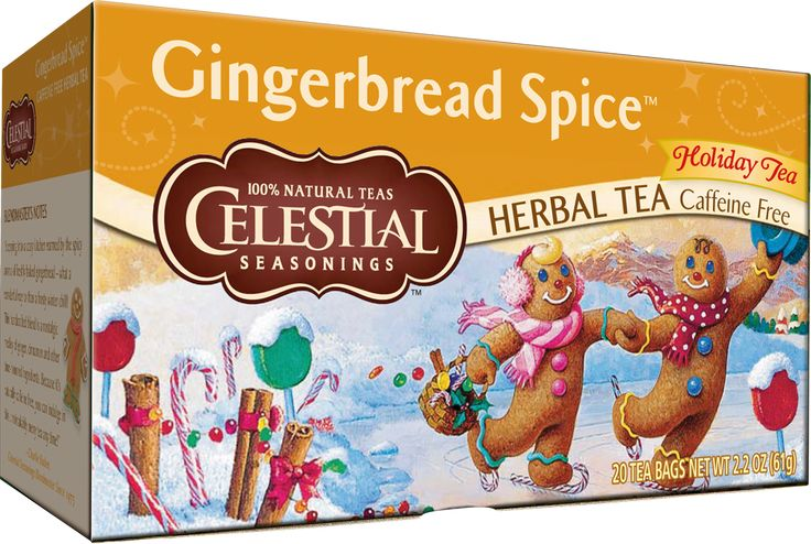 """Stepping into a cozy kitchen warmed by the spicy aroma of freshly baked gingerbread — what a wonderful way to thaw a frosty winter chill! This handcrafted blend is a nostalgic medley of ginger, cinnamon and other time-honored ingredients. Because it's naturally caffeine free, you can indulge in this unmistakably merry tea any time!"""