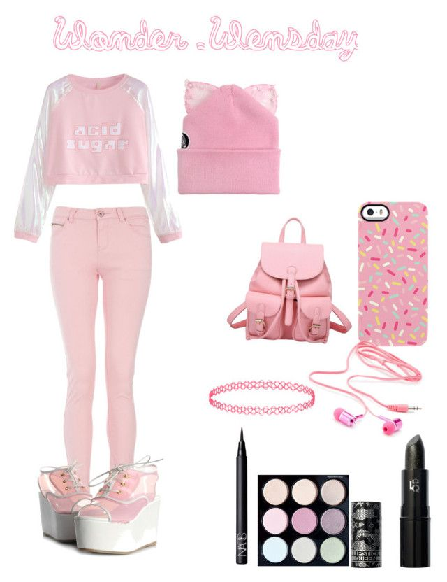 """""""Wonder Wensday"""" by mountaindewqueen15 ❤ liked on Polyvore featuring Uncommon, Lipstick Queen, NARS Cosmetics, Miss Selfridge, Charlotte Russe and Silver Spoon Attire"""