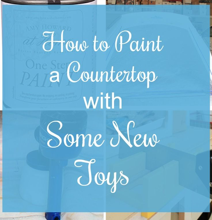 How to Paint a Countertop with Some New Toys. Using a Homeright Spray Shelter and Finish Max Paint Sprayer with Amy Howard Paint makes painting a breeze.