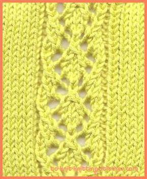diamond lace knitting stitch pattern