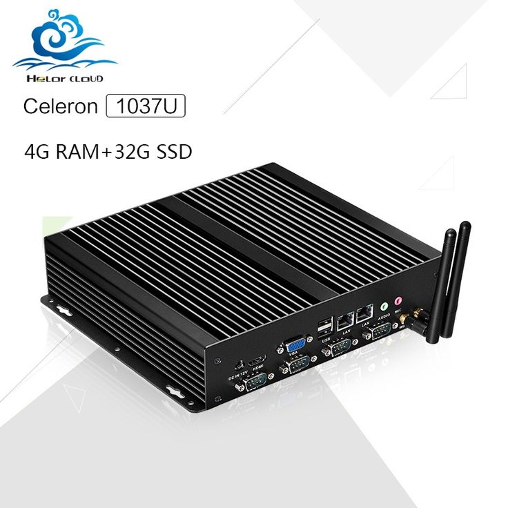 208.00$  Watch here - http://aliur8.shopchina.info/1/go.php?t=1000001765158 - Hot on sale Industrial   Barebone Mini PC C1037U Celeron Dual LAN 4G RAM 32G SSD PC Games With black metal case Windows XP, win7  #buychinaproducts