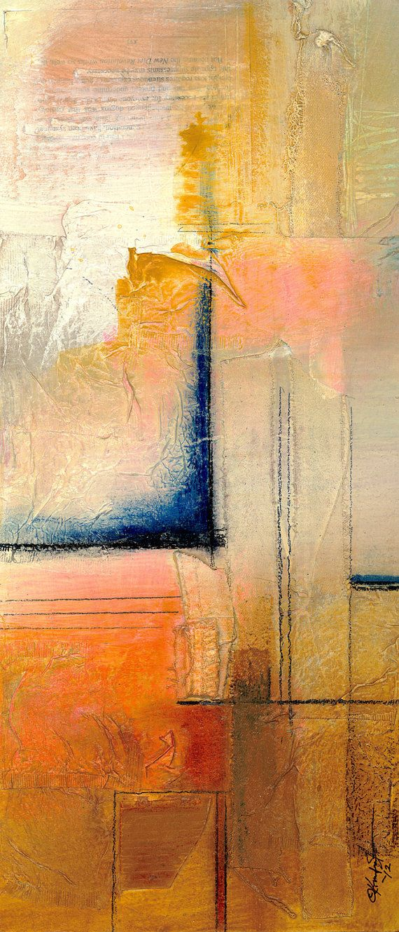 """Peinture, technique mixte Art, abstraite """"07"""" Beauteous Zen moderne contemporain Original peinture par Kathy Morton Stanion EBSQ"""