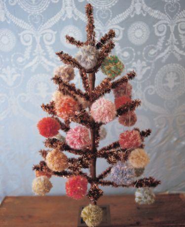Fuzzy ornaments from Handknit Holidays by Melanie Falick