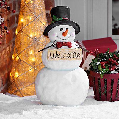 Welcome Snowman-hes cute