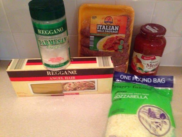 Wishes do come true...: Baked Italian sausage Pasta Aldi recipes easy recipe cheap recipes