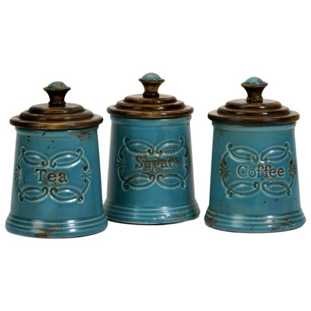 Provincial Canister - Set of 3: Kitchens, Decor, Idea, Canister Sets, Provincial Canisters, Color, Ceramic, Products