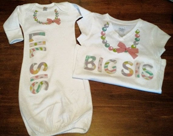 Big Sister Little Sister Matching Shirts  Little by TheIronTractor
