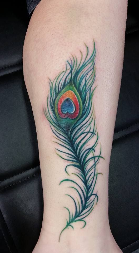 Simple Peacock Feather Tattoo Designs