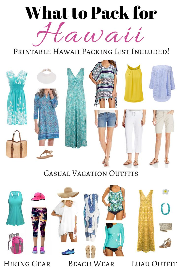 What To Pack For Hawaii: Perfect Hawaii Outfits and Hawaii Packing List Printable PDF!