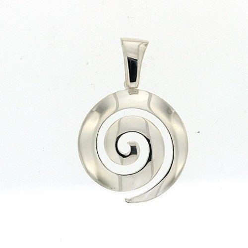 Greek silver spiral pendant spiral pendant by ThetisTreasures