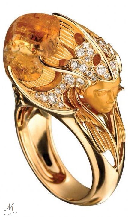 de Grisogono: haute couture jewelry collection | Citrine and Diamond Ring by…
