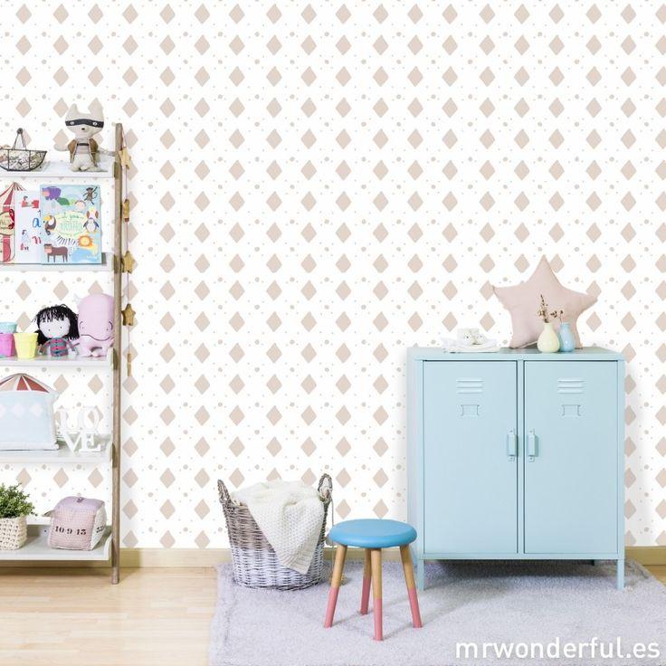 Wallpaper by ginasalvatierra 37 home decor ideas to for Papel pintado topos