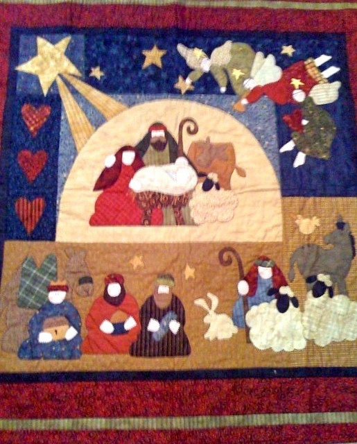 O Come All Ye Faithful, designed by Nancy Halvorsen, made by Nancy Wright