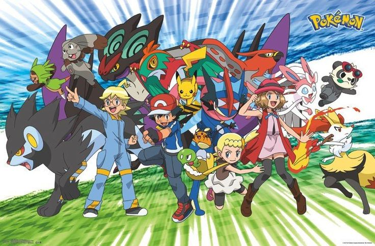 Pokemon - Traveling Party Wall Poster 22x34 RP14864 UPC882663048649 – Mason City Poster Company