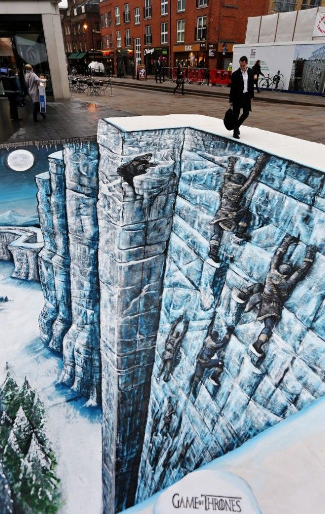 Game of Thrones 3D street art