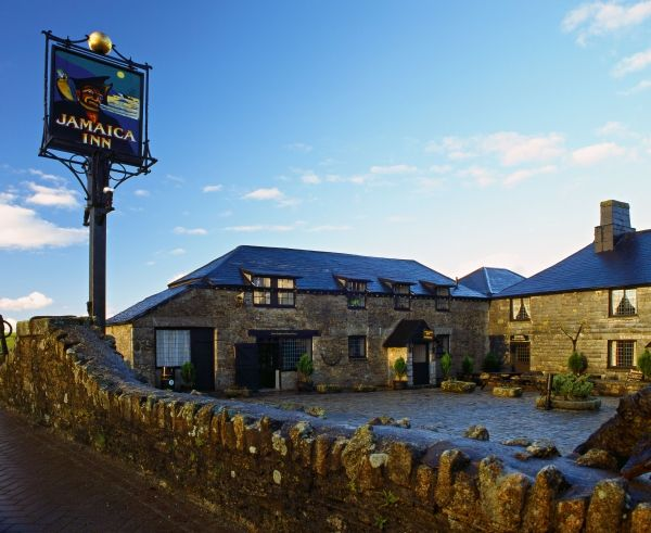 Jamaica Inn at Bolventor near Bodmin in Cornwall. Built in 1750, this old coaching inn was the inspiration for Du Maurier's wonderful novel of the same name.