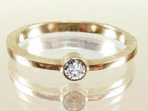 Verlobungsring Goldring 14 Kt großer Diamant