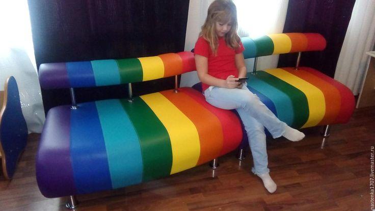 Купить модульный диван РАДУГА - комбинированный, радуга, яркий, для деской, диван офисный