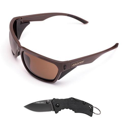 Cold Steel Battle Shades Mark III - Dark Brown w/Free Knife