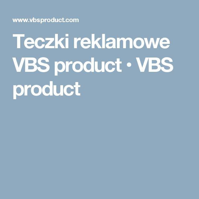Teczki reklamowe VBS product • VBS product