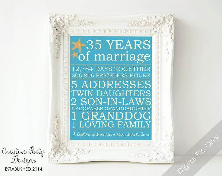 Best Wedding Anniversary Gift: 25+ Best Ideas About 35th Wedding Anniversary On Pinterest