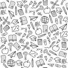 School background vector art illustration