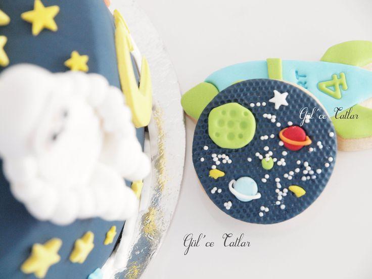 Uzay Temalı Doğum Günü Pastası ~ Gül'ce Tatlar
