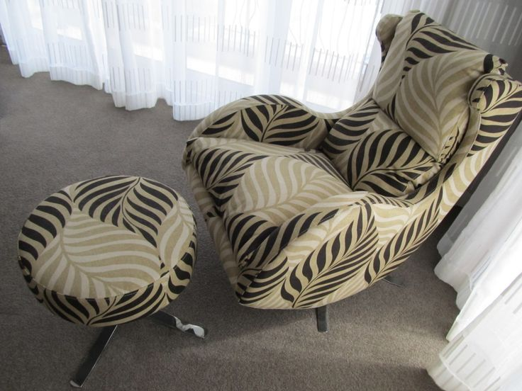 Statement compact designer recliner swivel chair with matching footstool. These are both in Swafferu0027s Borba 03 fabric. & 47 best Swivel u0026 tilt designer chair images on Pinterest ... islam-shia.org
