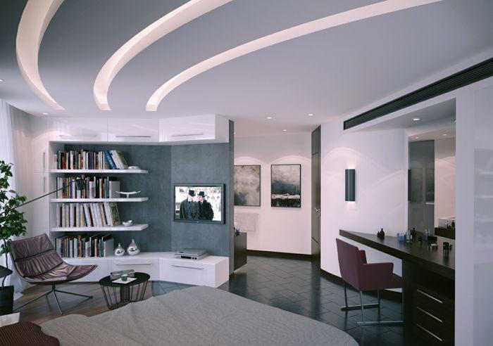 Abgehängte Decke Beleuchtung modern buch Haus Ideen Pinterest - abgehängte decke wohnzimmer