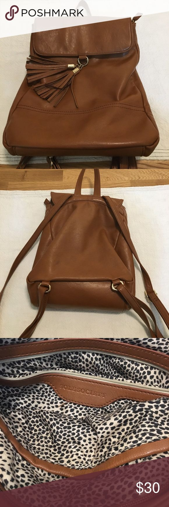 Sole Society backpack - vegan leather Exact item - used once for a festival - great condition! http://m.shop.nordstrom.com/s/sole-society-ellie-backpack/3851061 Sole Society Bags Backpacks