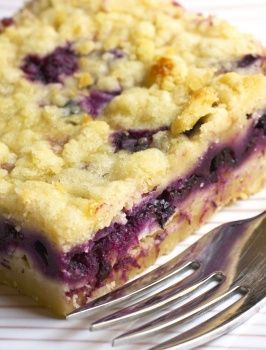 Blueberry Lemon Squares...Fresh or frozen blueberries work equally well in these simple and delicious dessert bars. Once cooled, they transport well and don't need refrigeration, making them a perfect choice for a  picnic.