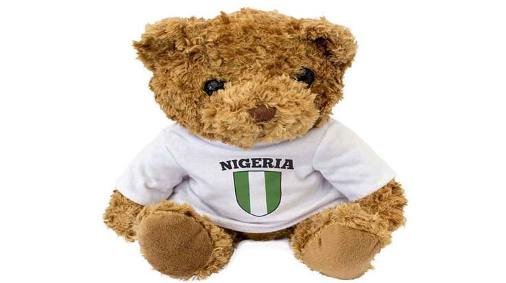 Nigeria Flag Teddy Bear - Lovable, Huggable - New 'Nigeria' Flag Cute And Cuddly Brown Teddy Bear Adorable 8″ / 20cm size teddy bear. This adorable traditional brown teddy bear is made with super soft fluffy fur perfect to cuddle up to, full of character and with a friendly face, this bear makes a thoughtful gift with the Nigeria flag. Find out more.  - Read more on Nigeria Rendezvous.