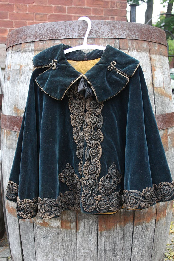 1880's Victorian Child's Cape - http://cabinetofcuriosities.ca/shop/vintage-clothing/1880s-victorian-childs-cape/