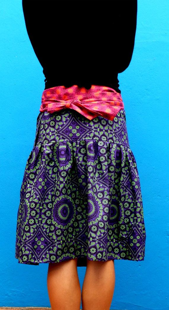 Ladies Wrap Around Skirt  S to XL  100% Cotton by MathildeAndCo