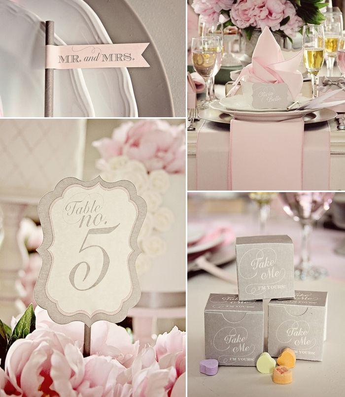 Mariage vintage en rose et gris  wedding  Pinterest